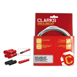 Clarks Pre-Lube MTB/Hybrid Shimano SRAM Brake Kit W/ Dirt Shield Black